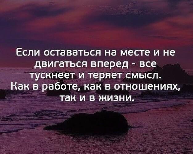 На фото изображен текст статуса про жизнь.