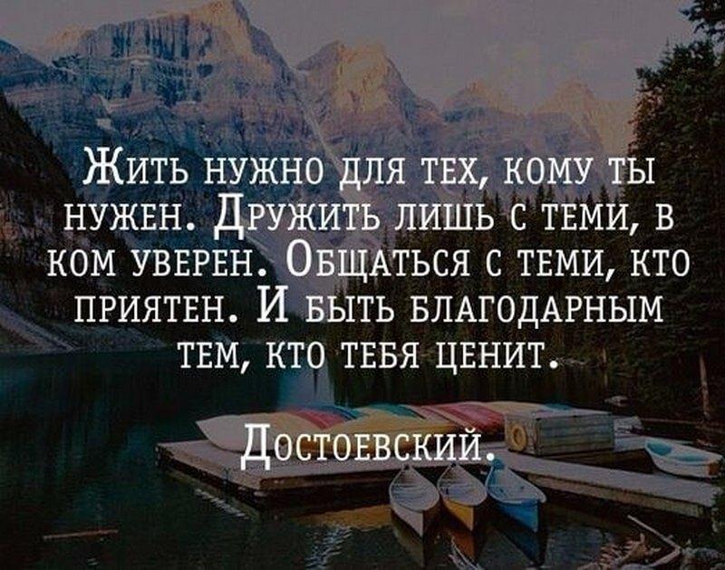 На фото изображена фраза Достоевского о жизни.