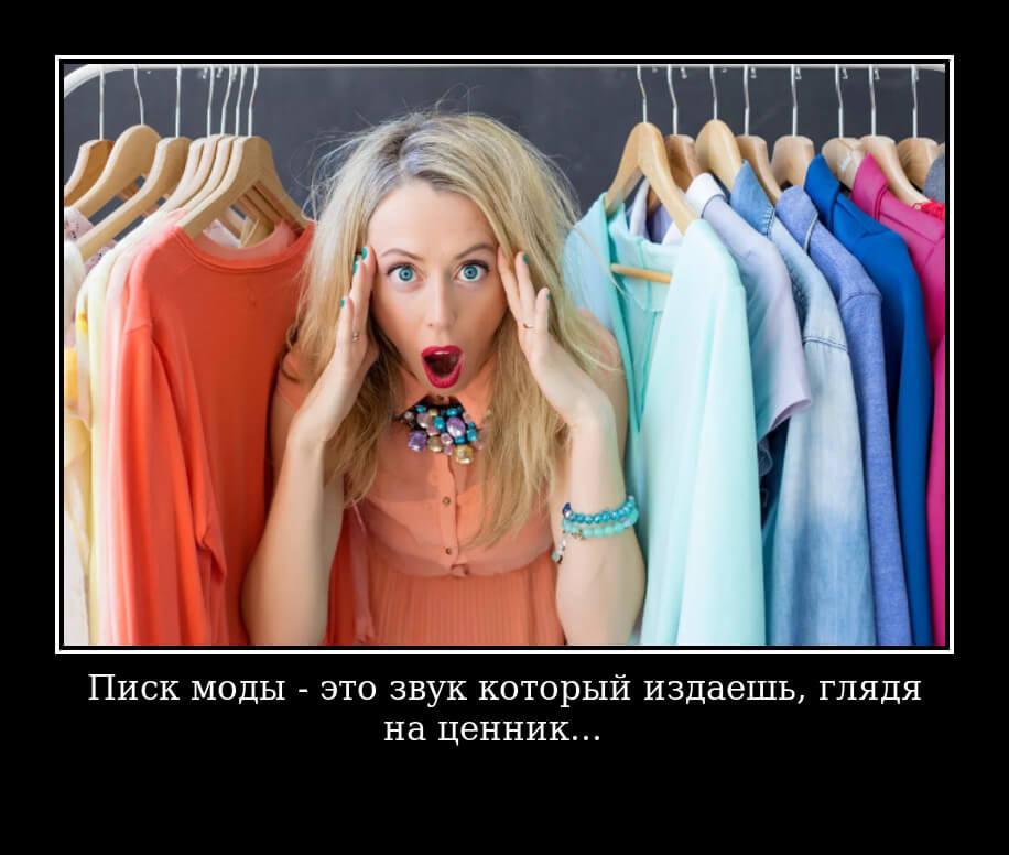 Писк моды - это звук который издаешь, глядя на ценник...