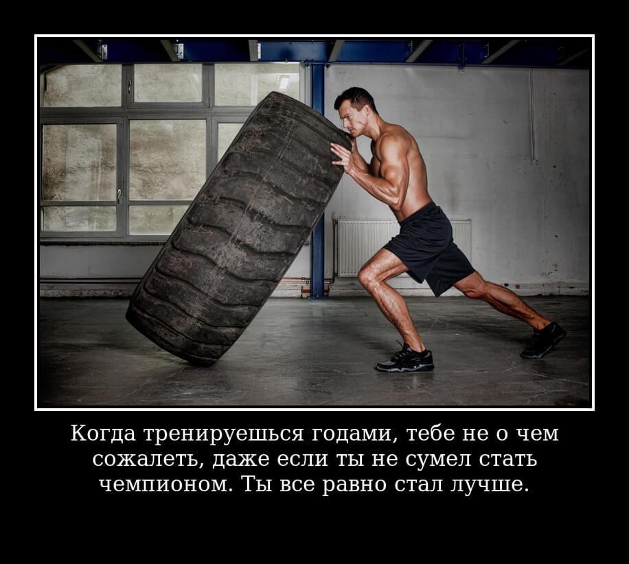Когда тренируешься годами, тебе не о чем сожалеть, даже если ты не сумел стать чемпионом. Ты все равно стал лучше.