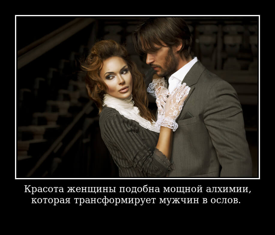 Красота женщины подобна мощной алхимии, которая трансформирует мужчин в ослов.