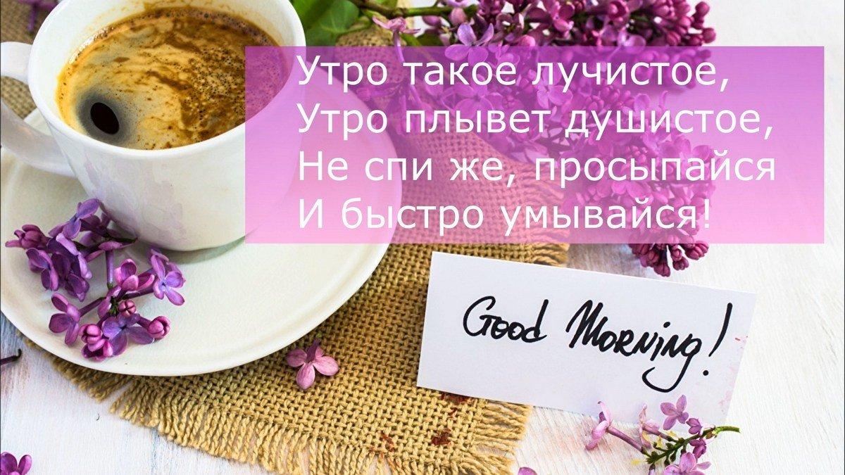 Утро такое лучистое, утро плывет душистое. Не спи же, просыпайся, и быстро умывайся!