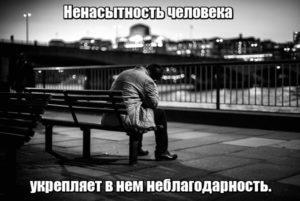 Ненасытность человека укрепляет в нем неблагодарность.