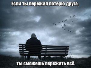 Если ты пережил потерю друга, ты сможешь пережить всё.