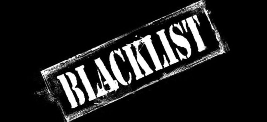 Надпись на черном фоне. Где найти статусы про черный список