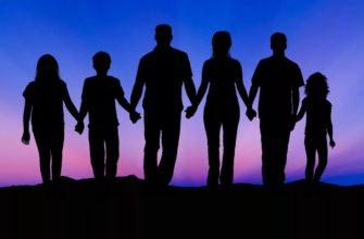 Силуэт семьи. Где найти статус про двоих сыновей и дочь.