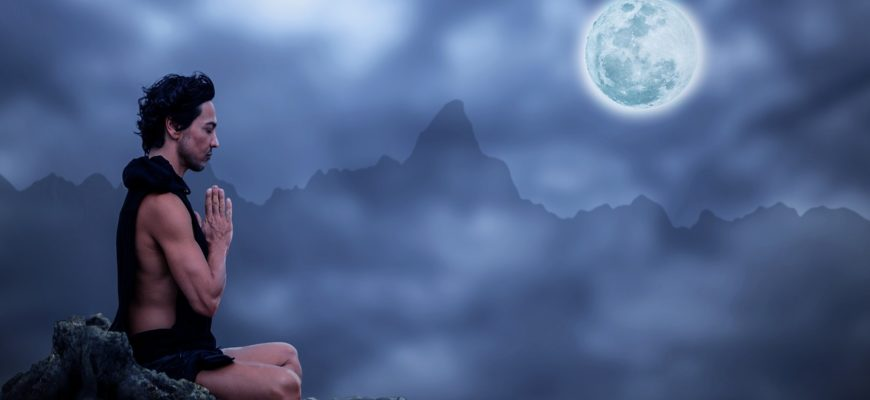 Ночная медитация. Где есть статусы про тишину.